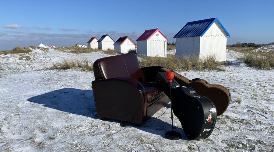 Gouville-sur-mer 50560, sous la neige, 2021, Manche, Normandie