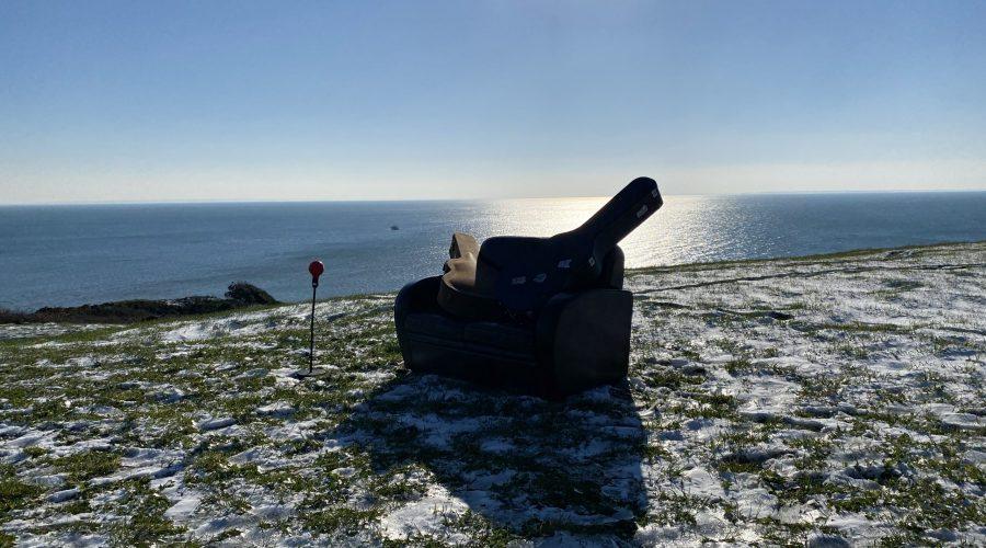 La terrasse vue sur la mer, La Pointe du Roc, Granville, Février 2021